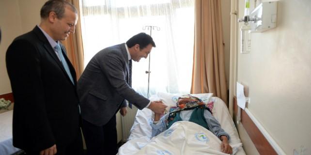 Kanser hastası kadının yüzü Osmangazi'yle güldü