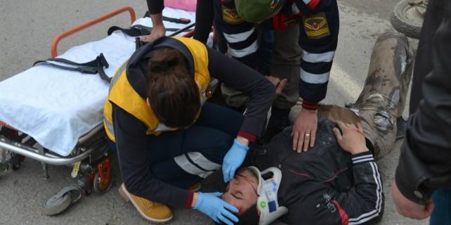 Bursa'da kaza... 1 yaralı