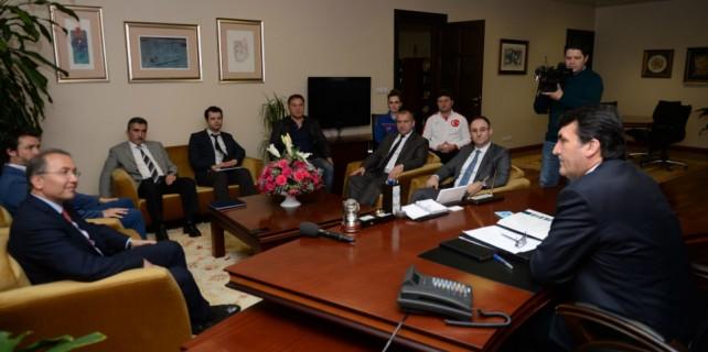 Dündar, Tenis Federasyonu Başkanı Durmuş'u ağırladı
