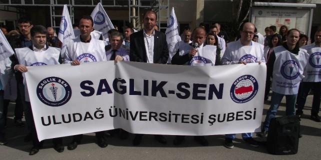 SAĞLIK-SEN, ek ödemeleri protesto etti