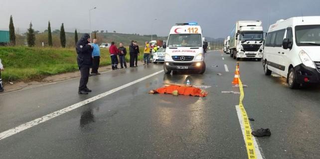 Bursa Otobanı'nda feci kaza...