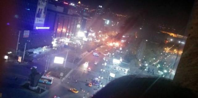 İşte Ankara'daki patlama anı (video)