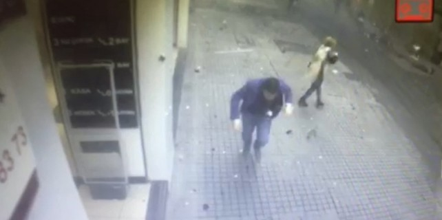 İşte patlama anı! (video)