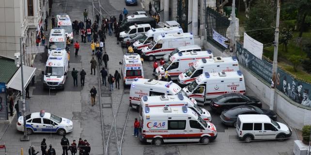 İstiklal'deki patlama sonrası olay yeri böyle görüntülendi