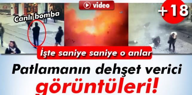 İstiklal Caddesi'ndeki patlama anı, işte canlı bomba!