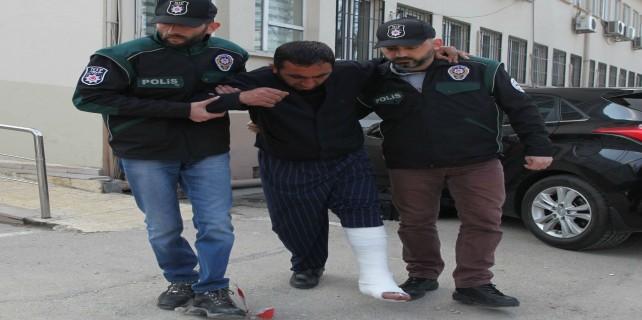 Polisi karşısında görünce ayağını kırdı...