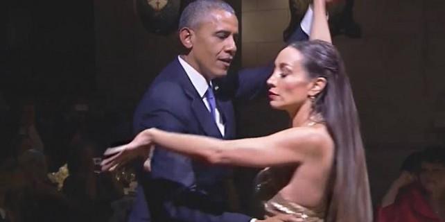 Obama'dan tango şov (video)