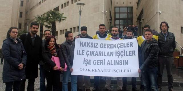 Oyak Renault işçileri adliyede hakkını arıyor