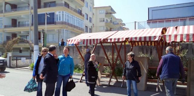 Mudanya'da el emeği tezgahları yeni yerlerini aldı