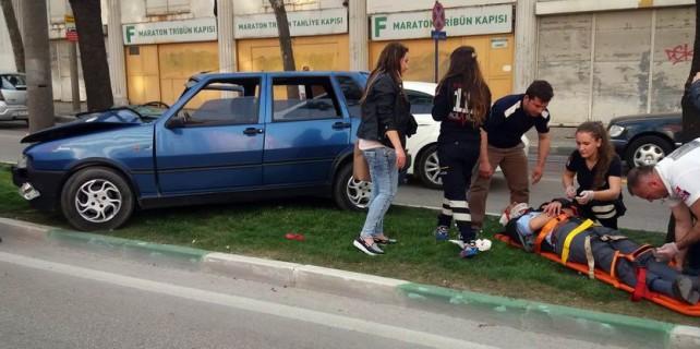 Kentin merkezinde inanılmaz kaza