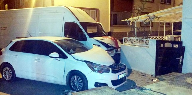 Bursa'da film setinde ilginç kaza...