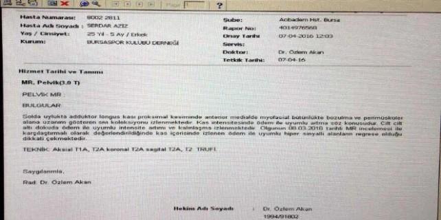 Bursaspor'dan belgeli Serdar Aziz açıklaması