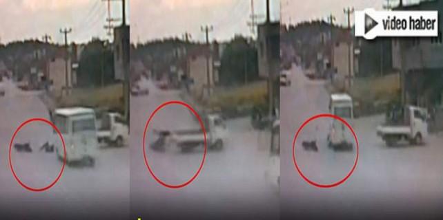Bursa'daki korkunç kaza kameraya böyle yansıdı...