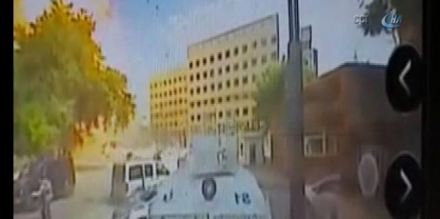 İşte bombalı aracın patlama anı...