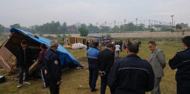 Bursa'da göçerlere şafak baskını