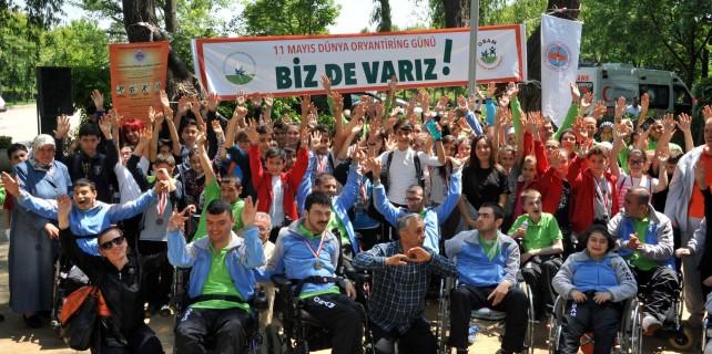 Engelli vatandaşların oryantring heyecanı