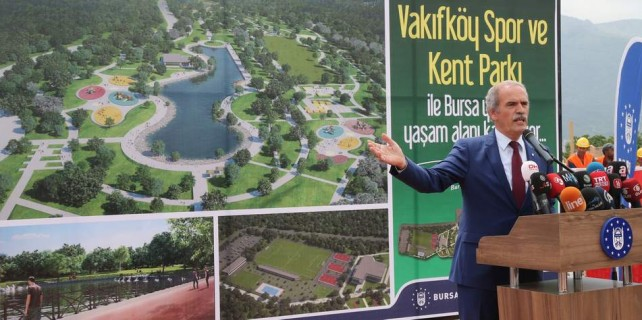 Bursa'ya 250 bin metrekarelik yeni kent parkı...