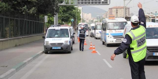 Bursa'da sürücülere ceza yağdı...