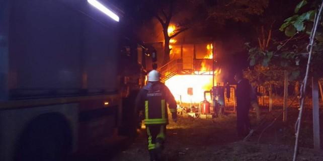 Bursa'da yangın paniği...