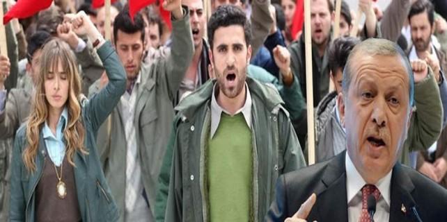 TRT dizisinde ekrana kilitleyen sahne