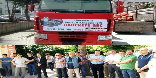Mudanya İHH, Türkmenler'e 7. TIR'ı gönderdi