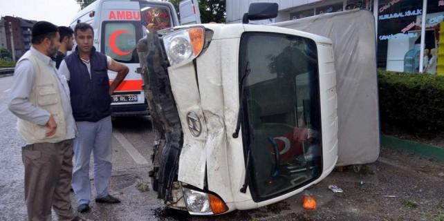 Bursa'da inanılmaz kaza...Burnu bile kanamadı