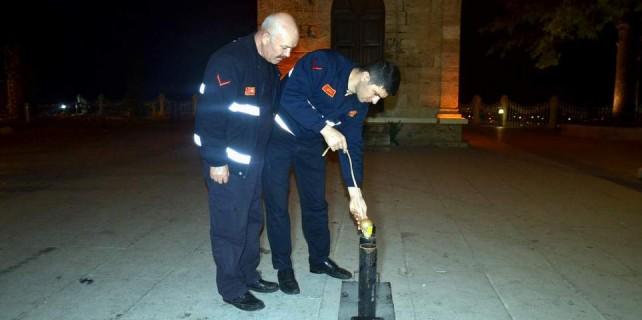 Bursa'da top atışı artık böyle yapılıyor...
