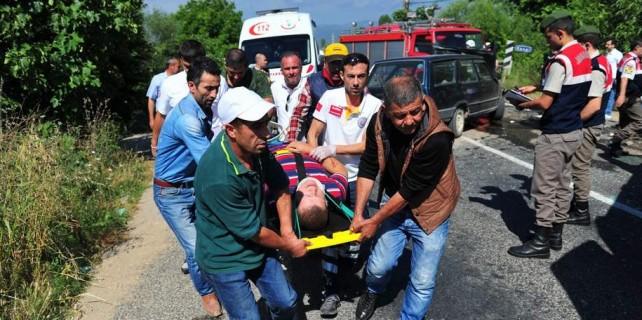 Bursa'da feci kaza...