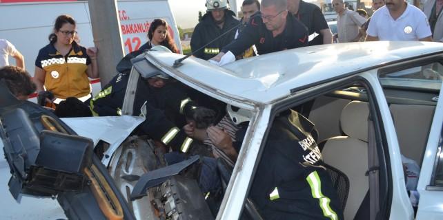 Bursa'da korkunç kaza