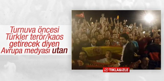 Fransa'da Türkiye İspanya kardeşliği...