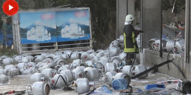 Tüpgaz deposunda patlama: 2 ağır yaralı