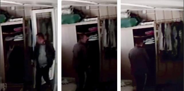 Seyyar satıcı kılığındaki hırsız kameraya yakalandı