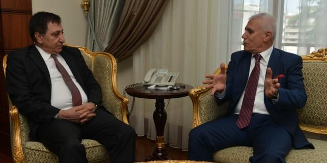 Başkan Bozbey'den Vali Küçük'e hayırlı olsun ziyareti