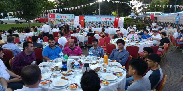 14 ülkeden Müslümanlar Bursa'da iftar yaptı