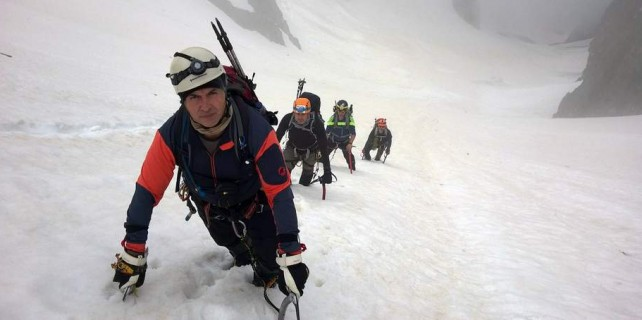 Bursalı dağcılar buzullara tırmandı