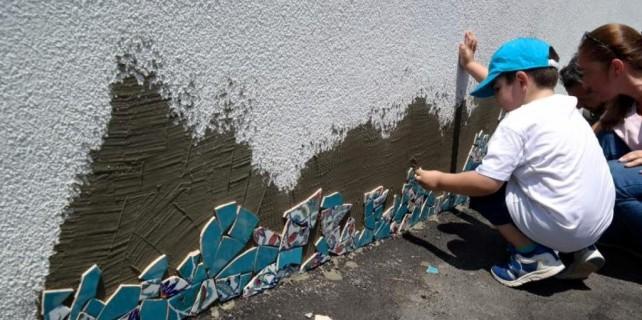 Nilüfer'in duvarlarını çocuklar süsledi