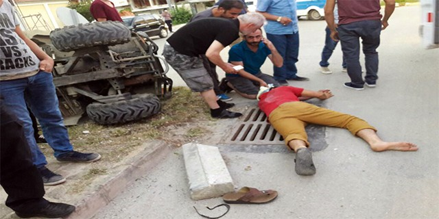 ATV takla attı: 1 yaralı