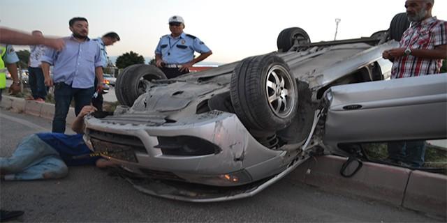 Bursa'da feci kaza! 1 komiser yaralandı