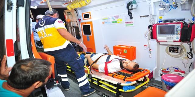 Şok kaza'da 2 kişi yaralı !
