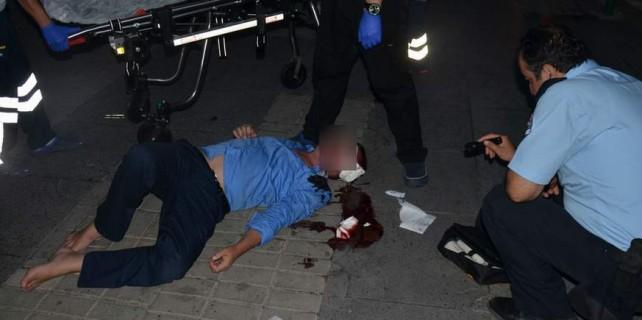 Bursa'da herkes ona baktı...Alkolü fazla kaçırınca