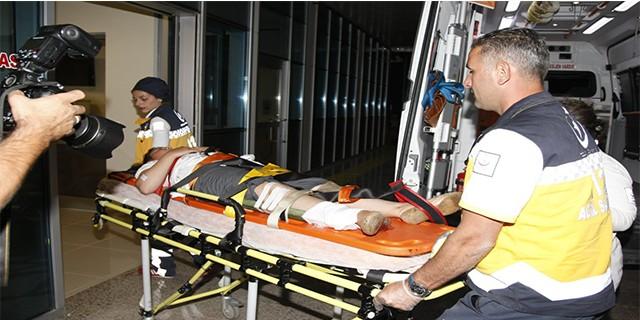 Ayağına demir saplandı ve böyle hastaneye kaldırıldı