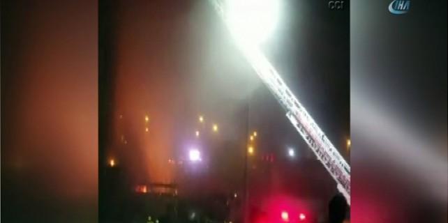 AVM'de çıkan yangın korkuttu