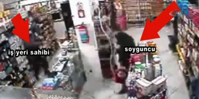 Market sahibi soyguncuyu böyle öldürdü!