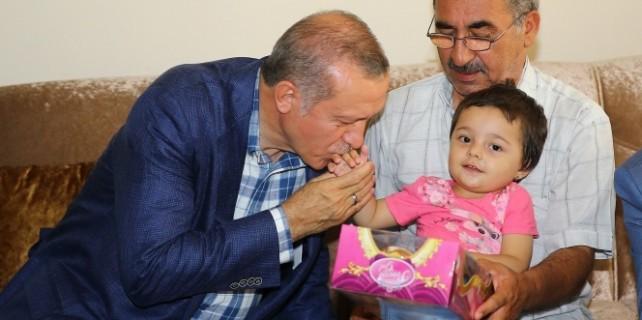 Erdoğan,dan şehit ailelerine ziyaret