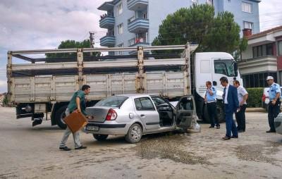 BURSA'DA YAŞANAN KAZADA 4 POLİS YARALANDI