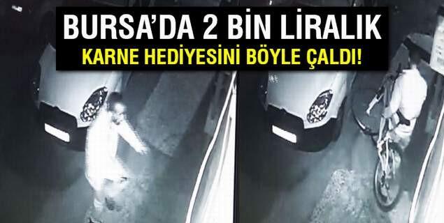 Bisiklet hırsızı kameraya böyle yakalandı...