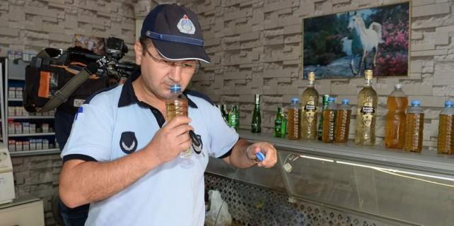 Bursa'da sahte rakılar kimseyi öldürmeden yakalandı