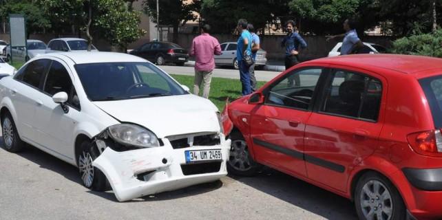 Kaza üstüne kaza yaptı, ne olduğunu hatırlamadı