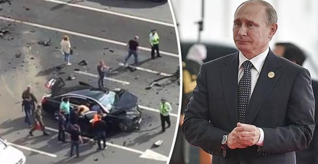 Putin'in aracı paramparça oldu... Şoförü hayatını kaybetti