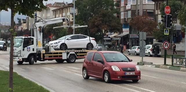 Bursa'da çekici terörü
